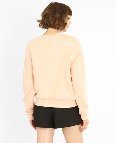 Bestickter Sweater Zartrosa