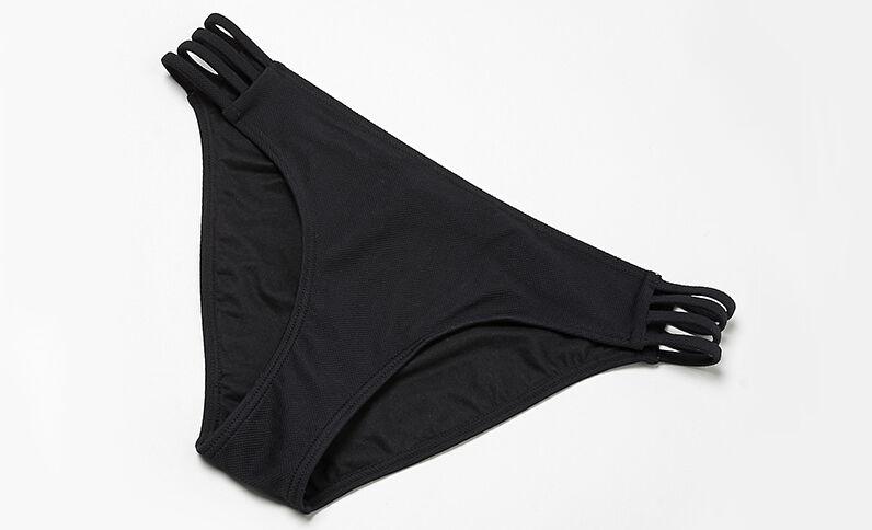 Bas de maillot de bain liens côtés noir