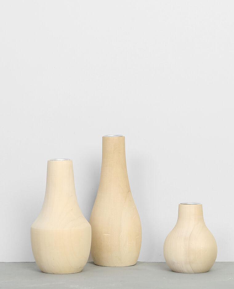 gro er kerzenst nder aus holz beige 975030749a07 pimkie. Black Bedroom Furniture Sets. Home Design Ideas