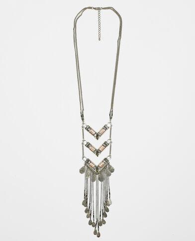 Lange Halskette mit Zacken Gold