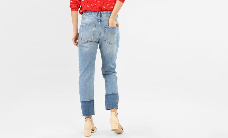 Jeans 7/8 2 tonalità blu denim
