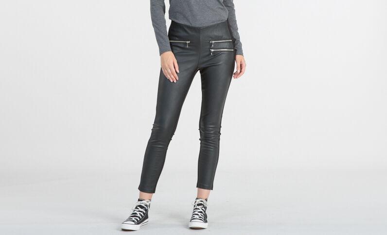 Leggings bimateriale nero