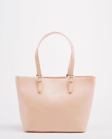 Borsa shopping rosa cipria