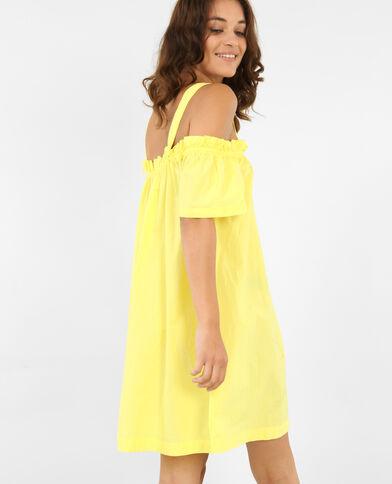 Robe ample à manches peekaboo jaune