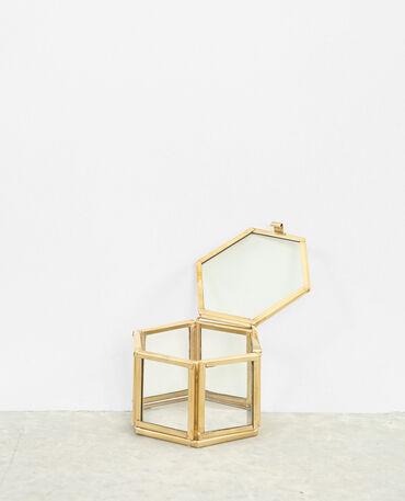 Piccola scatola per gioielli dorato