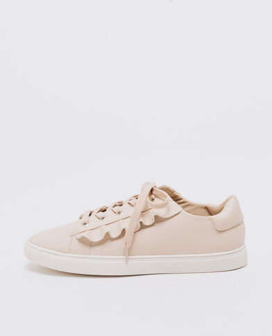 Sneakers mit Volants Beige
