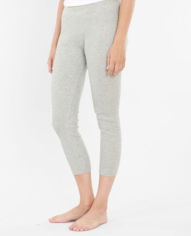 Homewear-Leggings Grau meliert