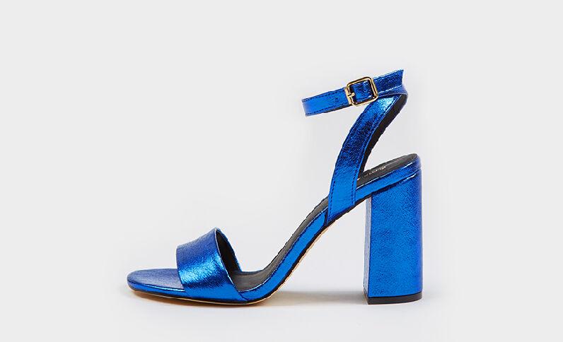 Sandales à talons bleu électrique