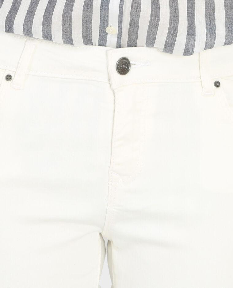 Skinny-Hose mit Reißverschluss Altweiß