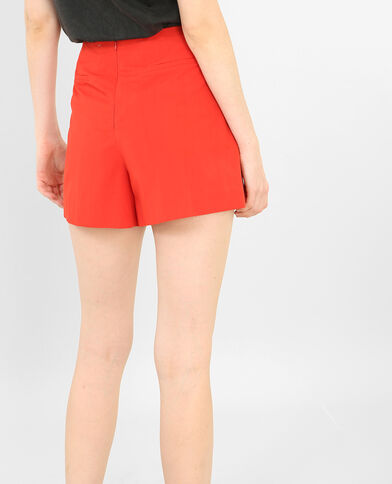 Short met hoge taille rood