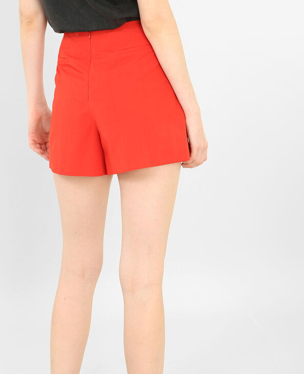 Shorts de talle alto rojo