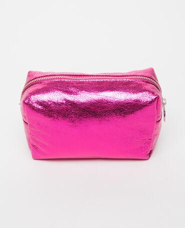 Neceser de maquillaje rosa fucsia