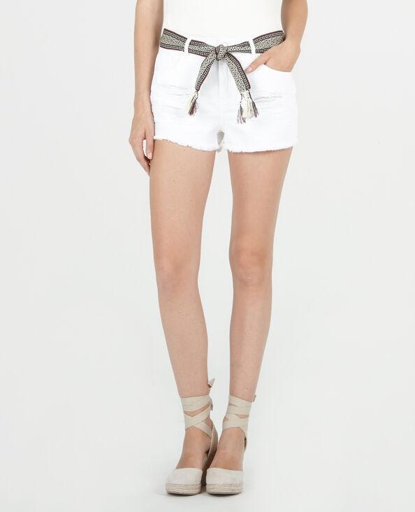 Short met originele riem wit
