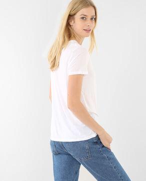 T-shirt basic Lyocell bianco