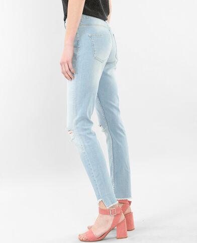 Jean skinny raw cut bleu denim