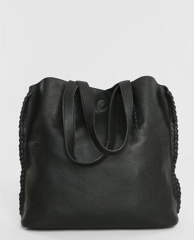 Bolso cabás + cartera negro