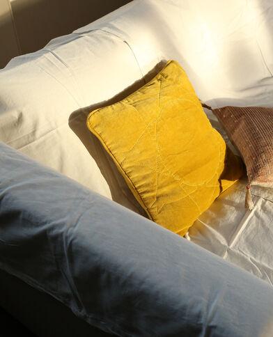 Kissenbezug in Samtoptik Gelb