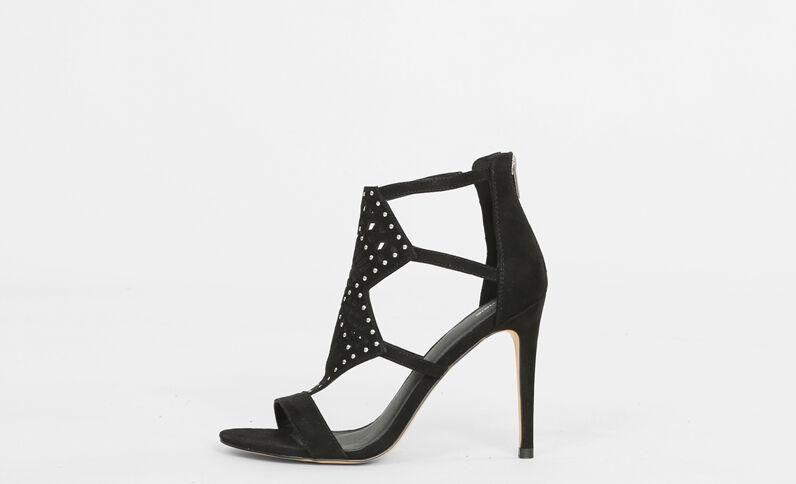 Sandaletten mit Absatz Schwarz
