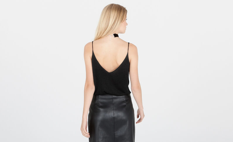 Top lurex nero