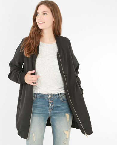 Bomber long noir