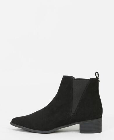 Spitze Chelsea-Boots Schwarz