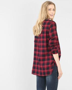 Chemise à carreaux framboise
