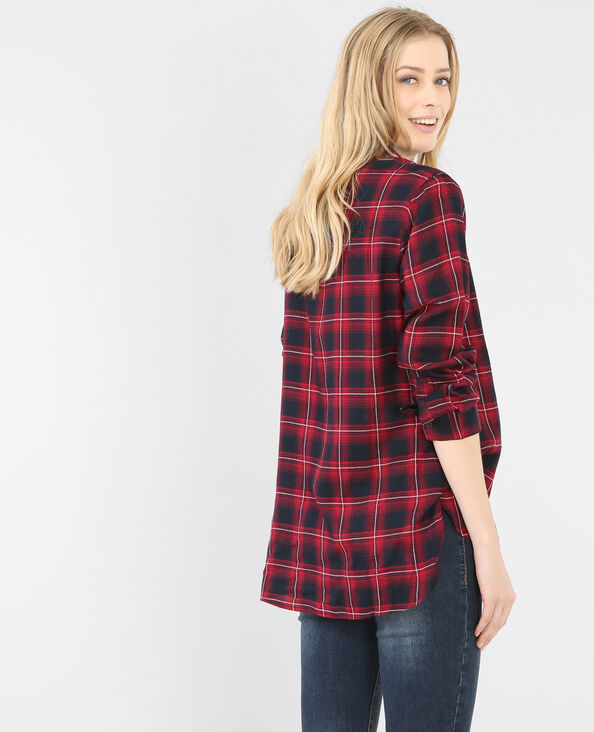 Camisa de cuadros frambuesa