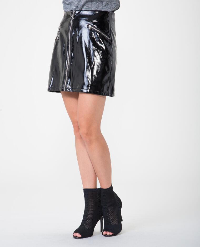 Mini jupe vernie noir