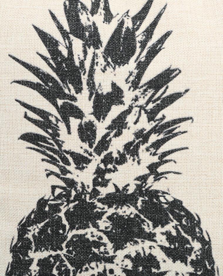 Federa per cuscino in cotone ananas bianco