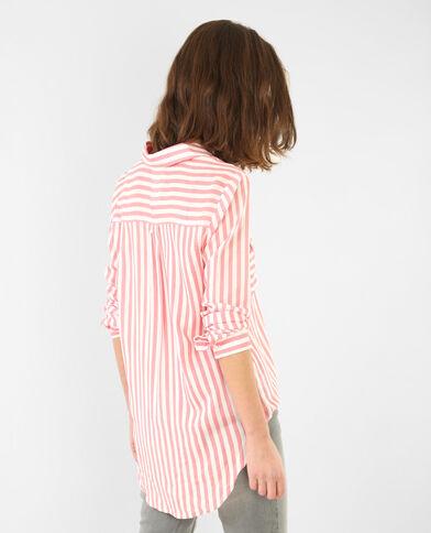Camisa de rayas rojo