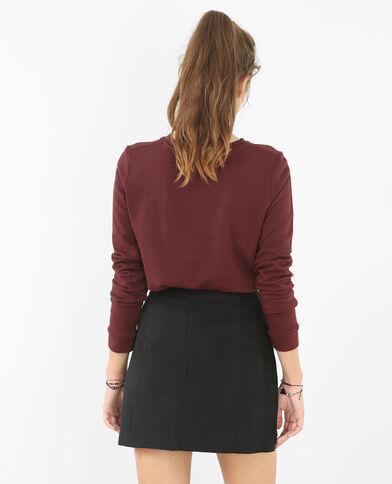 Sweatshirt mit Pfeil-Motiv Bordeauxrot