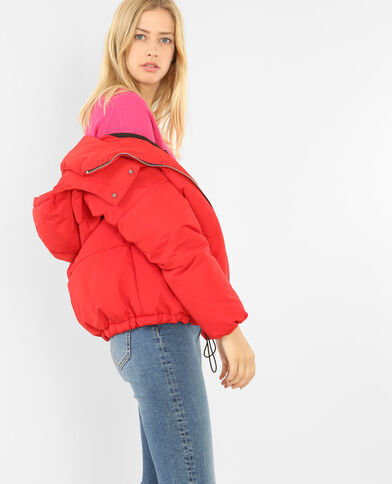 Doudoune oversized rouge