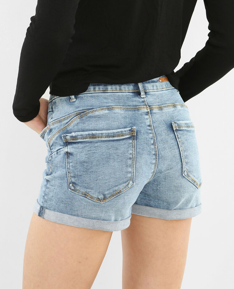 Short push up bleu denim