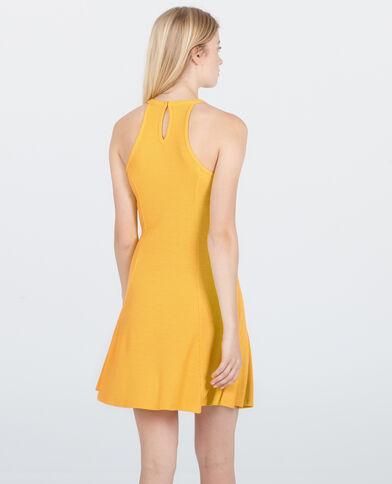 Robe trapèze jaune