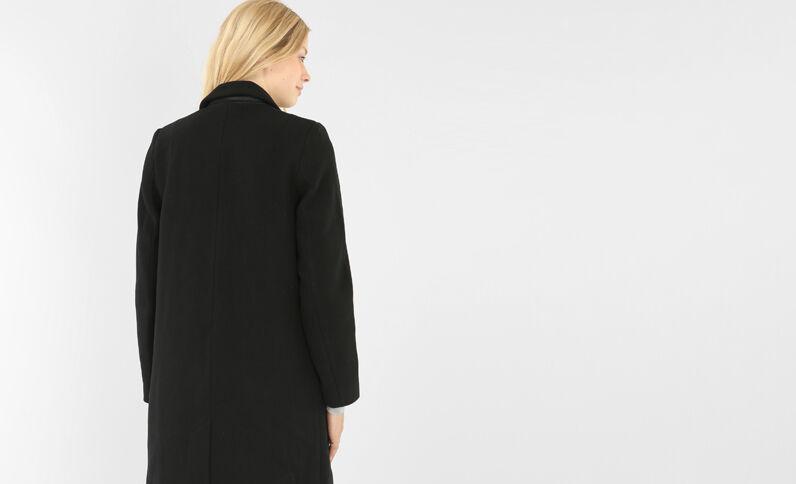 Cappotto dritto nero nero
