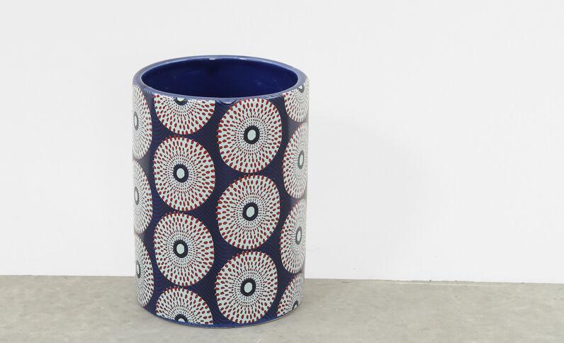 Vase mit Mustern Blau