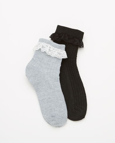 Lot de 2 paires de chaussettes noir