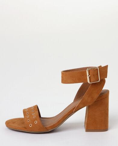 Sandales talons carrés marron