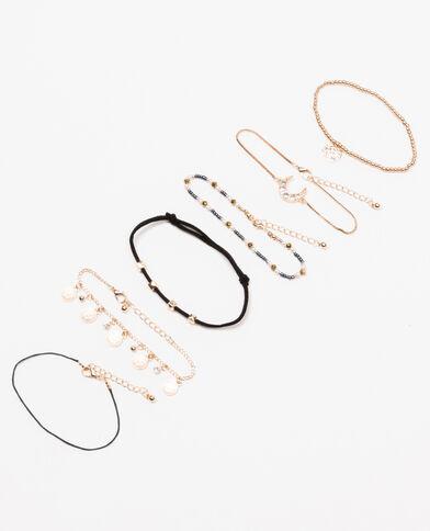 Lot de 6 bracelets doré