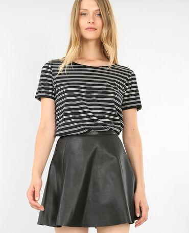 T-shirt à rayures noir