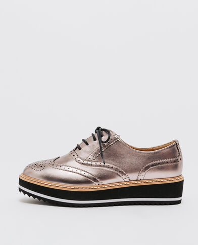 56919058c Zapatos Derby metalizados bronce ...