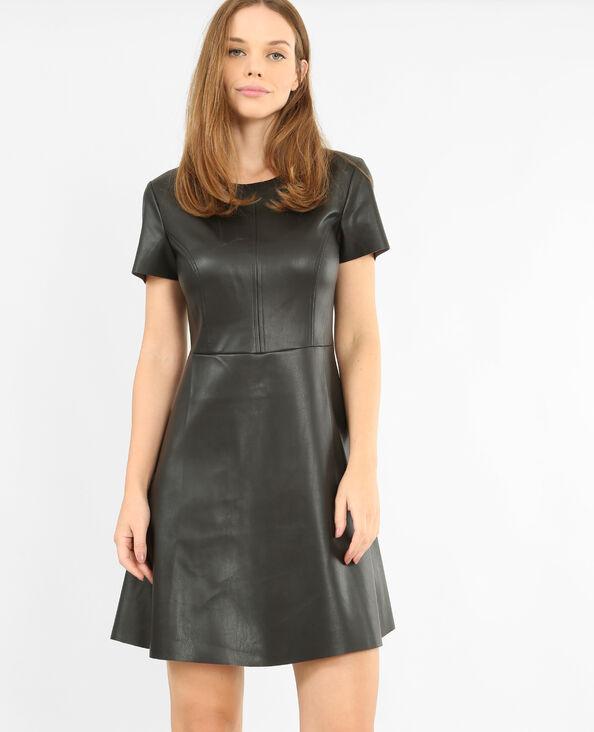 Vestido de polipiel negro