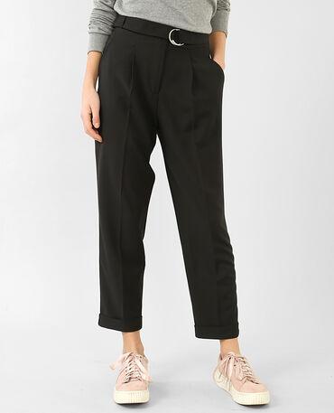Pantalon carrot noir