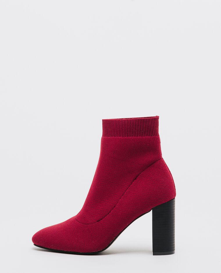 elastische boots mit absatz ziegelrot 40 907267351a03 pimkie. Black Bedroom Furniture Sets. Home Design Ideas