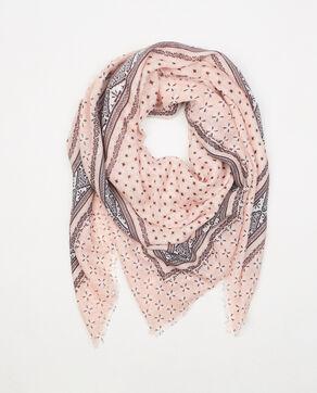 Foulard imprimé bandana rose