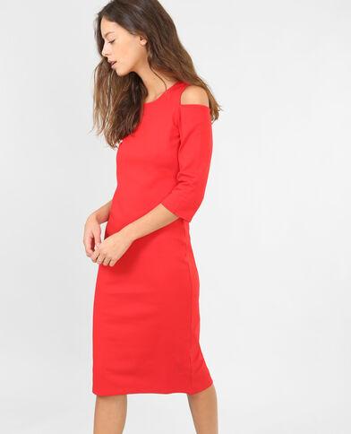Robe peekaboo rouge