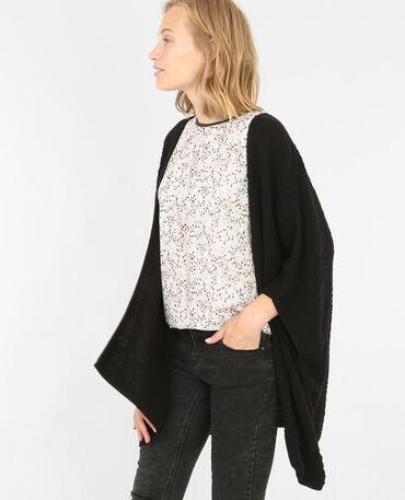 Strickjacke in Kimono-Form Schwarz