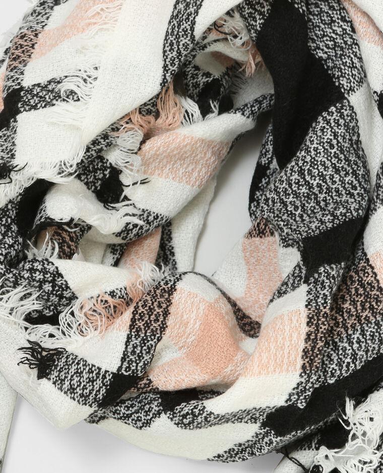 Foulard a quadri bianco sporco