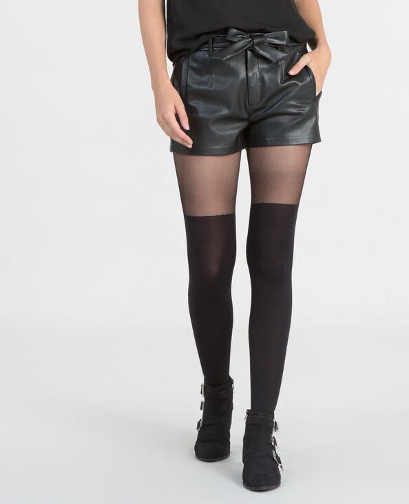 Panties de dos colores negro