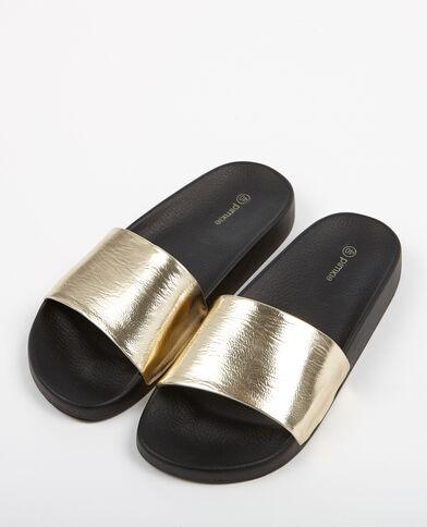Sandali bassi con cinturino dorato